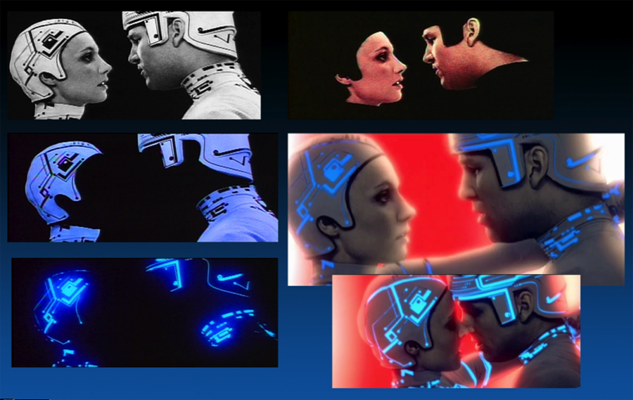 Photo elements to create electronic characters
