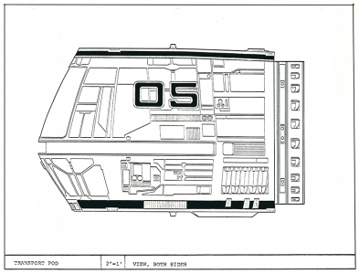 Transport Pod: Side View
